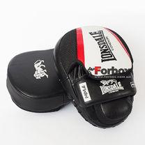 Лапы боксерские изогнутые Lonsdale XPEED из натуральной кожи (VL-8342, черно-белый)