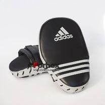 Лапы боксерские Adidas Short Mitts гнутые PU кожа (ADIBAC01, черные)