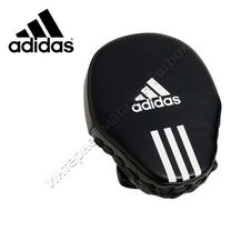 Боксерские лапы гнутые Adidas Economy (ADIBAC011, черные)
