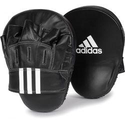 Лапы боксерские Adidas гнутые кожаные (ADIBAC012, черные)