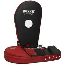 Лапы кикбоксерские увеличенные Boxer кирза (2009-01, красно-черные)