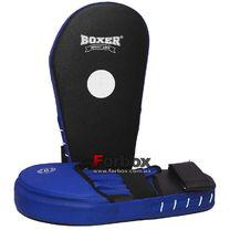 Лапы кикбоксерские увеличенные Boxer кирза (2009-01, сине-черные)
