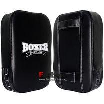Макивара малая Boxer из натуральной кожи 45*30*10см (BXMML, черная)