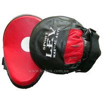 Лапы гнутые профессиональные кожаные Lev (1314-bkrd, черно-красные)