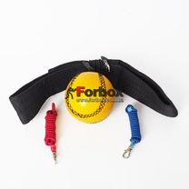 Теннисный мяч на резинке Fight Ball Кожа (FB-1881, оранжевый)