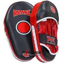 Лапи боксерські збільшені шкіра REYVEL (0128-rd, червоні)