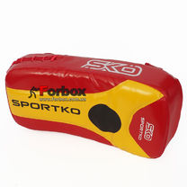 Пады для тайского бокса Sportko (ПТП1, красно-желтые)