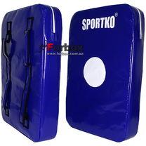 Макивара двойная люкс ПВХ SportKo (М3, синяя)