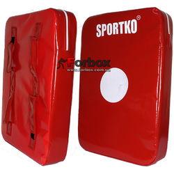Макивара двойная люкс ПВХ SportKo (М3, красная)