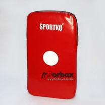 Макивара малая люкс ПВХ Sportko (М4, красная)
