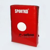 Макивара двойная Sportko из ПВХ 60см*40см (М5, красная)