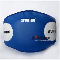 Тренерский пояс шкірзам SportKo (1691-bl, синій)