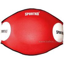Тренерский пояс кожзам SportKo (1691-rd, красный)