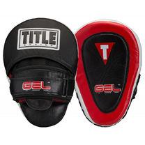Лапы боксерские TITLE Gel Blockade punch mitts (GCPMC, черно-красные)