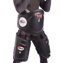 Тренерская защита корпуса и бедер Twins нат.кожа (BEPTL1-BK, Черный)