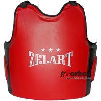 Защита корпуса (жилет) тренера PU (ZB-8024, красно-черный)