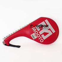 Ракетка двойная Zelart для отработки ударов ногами (BO-4511, красная)