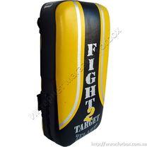 Макивара для тайского бокса Zelart 40*20*10см кожа (ZB-6156, черно-желтая)