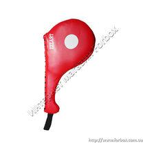 Ракетка для тхэквондо Zelart одинарная (VL-0147, красная)