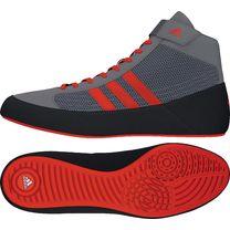 Обувь для вольной борьбы Борцовки Adidas Havoc на твердой подошве (CG3802, серо-красные)