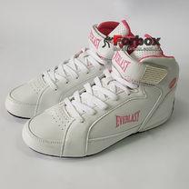 Боксерки Everlast обувь для бокса женские JUMP (ELW65C, бело-розовые)