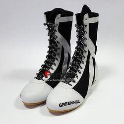 Обувь для бокса Green Hill боксерки высокие (BSS-3050, бело-черные)