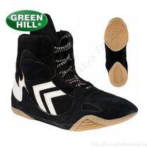 Борцовки Green Hill обувь для борьбы из замши (WS-3025, черные)