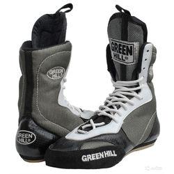 Боксерки Green Hill обувь для бокса (BS-0001, черно-серые)