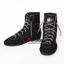 Обувь для бокса Боксерки Украина из натуральной замши (LTRBS, черные)