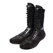 Боксерки Reyguard кожаные высокие (1364-bk, черные)