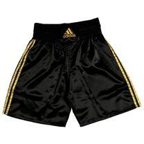 Шорты боксерские Adidas Multi-B (ADISMB01, черные с золотом)