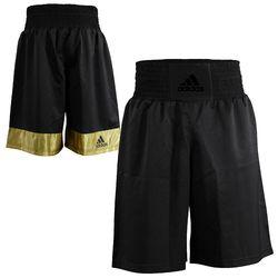 Шорти боксерські Adidas Diamond Flex Satin (ADISMB02, чорний з золотом)
