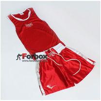 Форма боксерская Everlast одноцветная с белым поясом (VL-6011, красная)