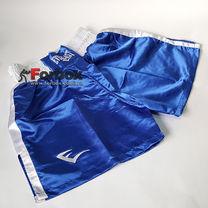 Шорти боксерські Everlast з білим поясом (VL-6011, сині) розмір S