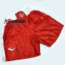 Шорты боксерские Everlast с белым поясом (VL-6011, красная)
