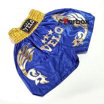 Шорты для тайского бокса VELO (ULI-9200-B, синие с золотом)