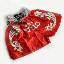 Шорты для тайского бокса VELO (ULI-9200-R, красные с серебром)