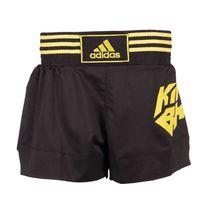 Шорты для кикбоксинга и тайского бокса Adidas (ADISKB02, черно-золотые)