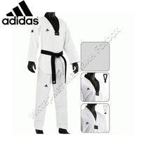 Добок для тхэквондо Adidas Elite с черным воротом (JWA2002, белое)