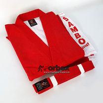 Самбовка куртка для самбо Wolf 650 гм2 (RSU-275, красная)