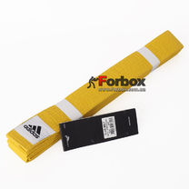 Пояс для кимоно Adidas Club (adiB220, желтый)