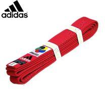 Пояс для каратэ Adidas Elite с аккредитацией WKF (adiB240WKF, красный)