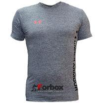 Компресійна чоловіча футболка з коротким рукавом Under Armour (CO-07-1, світло-сіра)