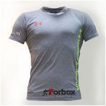 Компрессионная мужская футболка с коротким рукавом Under Armour (CO-07-2, светло-серая)