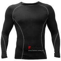 Компрессионная футболка с длинным рукавом (LD-1001, черный)
