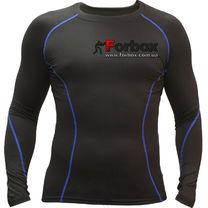 Компрессионная футболка с длинным рукавом (LD-1001, черно-синий)