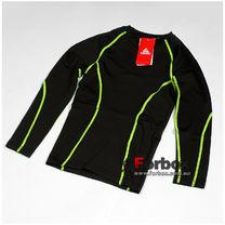 Компрессионная футболка подростковая с длинным рукавом Lidong (LD-1001T-G, черно-зеленая)