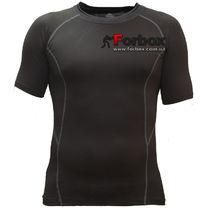 Компрессионная футболка с коротким рукавом (LD-1102, черно-белый)