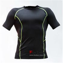 Компрессионная футболка с коротким рукавом (LD-1102, черно-зеленый)