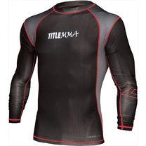 Рашгард MMA Title Shock с длинным рукавом TMMRGL1 черный с красной ниткой